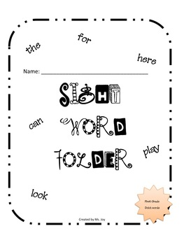 First Grade Dolch Sight Word Pack N Fun