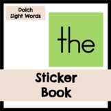 Dolch Sight Words: First Grade Sticker Book