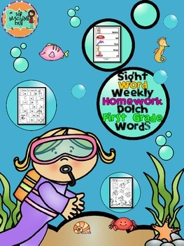 First Grade Dolch Sight Word Weekly Packets