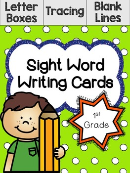 1st Grade Sight Word Writing Cards