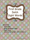 Grade 1 Dolch Sight Words