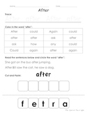 First Grade Dolch Sight Words 1-10