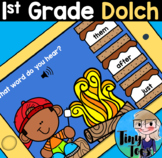 First Grade Dolch Sight Words BOOM w AUDIO task cards Distance Learning