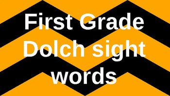 First Grade Dolch Sight Words Powerpoint - Black and Gold Chevron