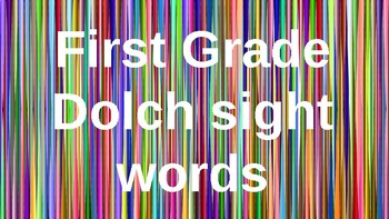 First Grade Dolch Sight Words Powerpoint - Rainbow Stripes