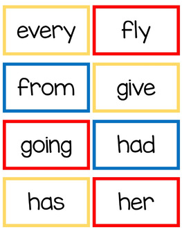 First Grade Sight Words- Read, Build, and Write It