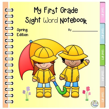 First Grade Dolch Sight Words Spring Notebook