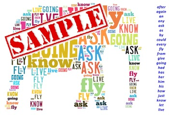 First Grade Dolch Sight Words - Word Cloud Pack (Animal Shapes)