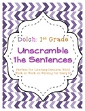 First Grade Dolch Unscramble the Sentences