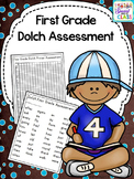 First Grade Dolch Word Assessment