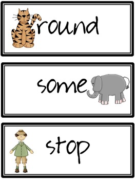 First Grade Dolch Words: Jungle Theme