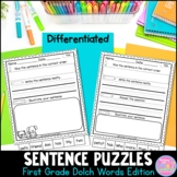 Sentence Puzzles {First Grade Dolch Word Edition}