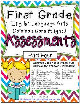 First Grade ELA Common Core Assessments Part Four