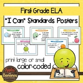 """First Grade ELA Common Core """"I Can"""" Classroom Posters"""