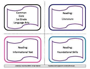 First Grade ELA Common Core Reference Cards