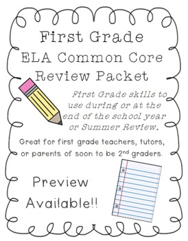 First Grade ELA Common Core Review
