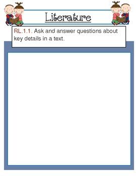 First Grade ELA Common Core Standards