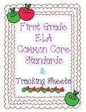 First Grade ELA Common Core Standards and Checklists