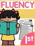 First Grade ELA Fluency Drills |GOOGLE™ READY GOOGLE SLIDES™| Distance Learning