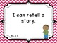 First Grade ELA I Can Statements