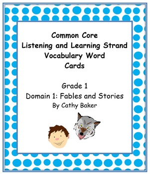 CKLA Grade 1 Domain 2 Fables and Folktales Vocabulary Card Set