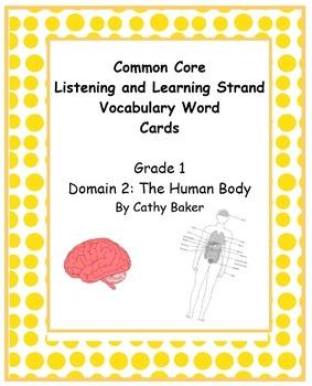 CKLA Grade 1 Domain 2 The Human Body Vocabulary Card Set