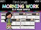 First Grade ELA Morning Work (Unit 1, Week 4)