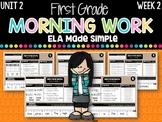 First Grade ELA Morning Work (Unit 2, Week 2)