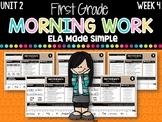 First Grade ELA Morning Work (Unit 2, Week 4)
