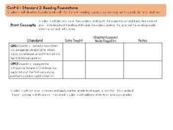 First Grade ELA OAS Tracking - Oklahoma Academic Standards