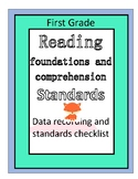 First Grade ELA Standard Checklist & Assessment Data Found