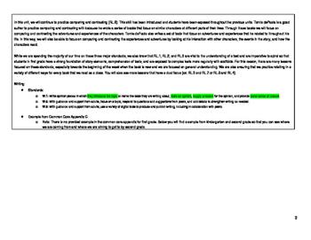 First Grade ELA Unit Plan- Author Study (Tomie dePaola)