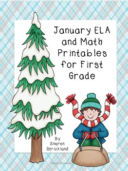 First Grade ELA and Math Printables for January