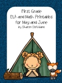 First Grade ELA and Math Printables for May and June