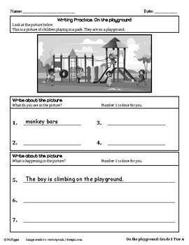 1st Grade ELL ACCESS Writing Practice
