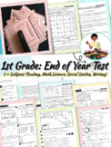 First Grade (EOY) End of Year Assessment (5 Subject Areas & Writing)