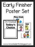 First Grade: Early Finisher Board