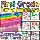 First Grade Early Finisher Task Cards - December