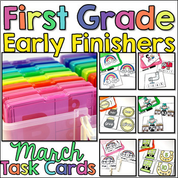 First Grade Early Finisher Task Cards - March