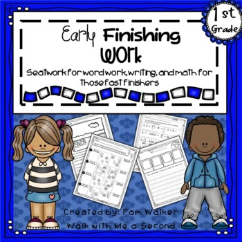 First Grade Early Finisher Work Set 1