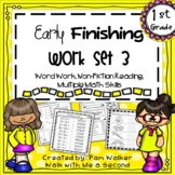 First Grade Early Finisher Work Set 3