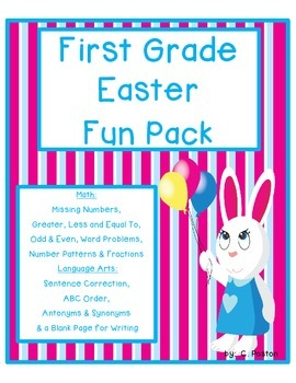 First Grade Easter Worksheets {Math and Language Arts Fun}