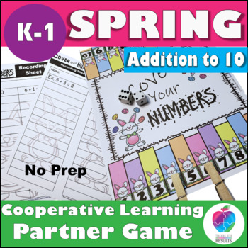 First Grade Spring Math Game - Addition to 10
