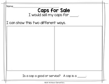 First Grade Economics with Reading Strategies