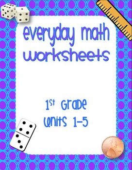 Printables Everyday Math Worksheets first grade editable everyday math worksheets by brittany adams units 1 5 1