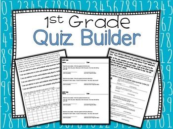 First Grade Editable Quiz Builder