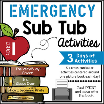 First Grade Emergency Sub Activities Unit