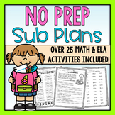 First Grade Emergency Sub Plans