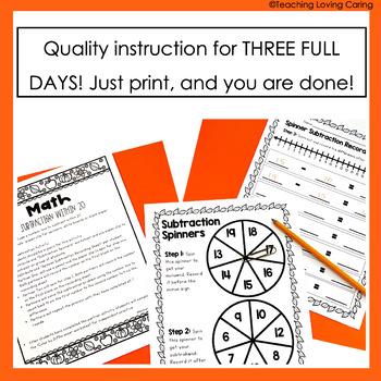 1st Grade No Prep Emergency Sub Plans - Autumn Fall Edition!