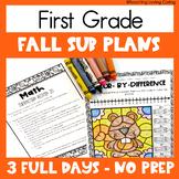 Emergency Sub Plans | First Grade | Fall